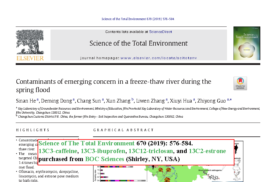 Contaminants of emerging concern in a freeze-thaw river during the spring flood