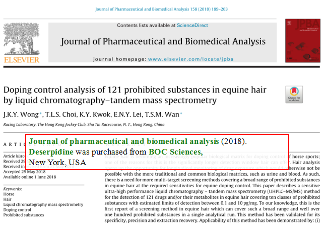 Doping-control-analysis-of-121-prohibited-substances-in-equine-hair-BY-LIQUID-CHROMATOGRAPHY-TANDEM-MASS-SPECTROMETRY