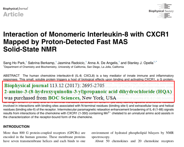 Interaction-of-Monomeric-Interleukin-8-with-CXCR1-Mapped-by-Proton-Detected-Fast-MAS-Solid-State-NMR