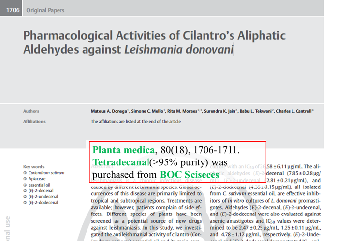 Pharmacological-Activities-of-Cilantros-Aliphatic-Aldehydes-against-Leishmania-donovani