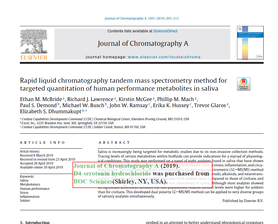 Rapid liquid chromatography tandem mass spectrometry method for targeted quantitation of human performance metabolites in saliva