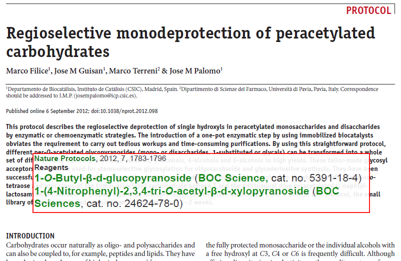 Regioselective-monodeprotection-of-peracetylated-carbohydrates