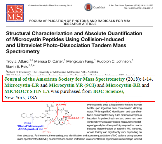 Structural-Characterization-and-Absolute-Quantification-of-Microcystin-Peptides-Using-Collision-Induced-and-Ultraviolet-Photo-Dissociation-Tandem-Mass-Spectrometry