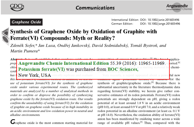 Synthesis-of-Graphene-Oxide-by-Oxidation-of-Graphite-with-Ferrate-VI-Compounds-Myth-or-Reality