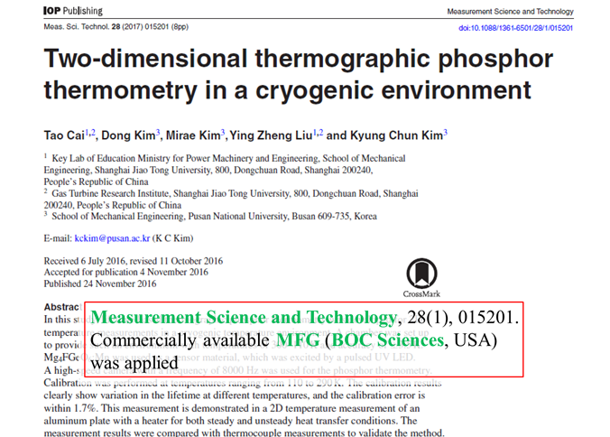 Two-dimensional-thermographic-phosphor-thermometry-in-a-cryogenic-environment
