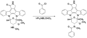 The synthesis route of midostaurin